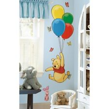 "WINNIE the POOH & PIGLET wall sticker 52"" tall MURAL Balloons party decorations"