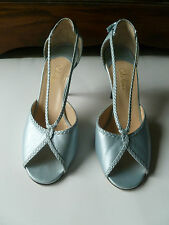 COLE HAAN blue leather stiletto d'orsay peeptoe size 9 ITALY