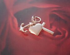 Brand New Sterling Silver Faith, Hope and Charity Charm - Pendant - Boxed