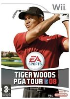 Nintendo Wii Pal Game TIGER WOODS PGA TOUR 08 with Instructions VCG