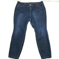 Lane Bryant Womens Dark Wash Stretch Denim High Rise Skinny Jeans 24