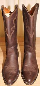 Bottes boots cowboy western santiags H-H BROWN cuir marron 41 FR 9M US 7,5 UK