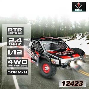 Wltoys 12423 1:12 2.4GHz 4WD 50km/h High Speed RC Truck Racing Rennauto Auto Car