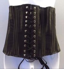 Camellias Waist Corset Cincher Steel Bone Underbust Body Shaper Women Black 2XL