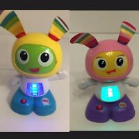 "🔴2 MINI PINK/BLUE BEATBO JUNIOR 6"" WORKS FISHER PRICE BRIGHT BEATS BEAT BO A1GO"