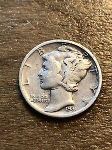 1931S Mercury Dime VF
