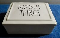 RAE DUNN By Magenta Artisan Collection LL Ceramic Box FAVORITE THINGS