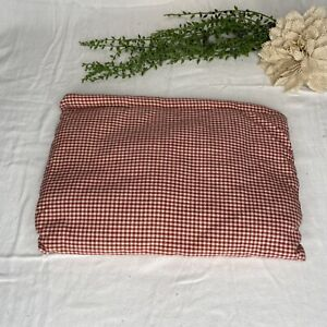 Vintage Handmade Red & White Checkered Gingham Pillow For Dog Bed