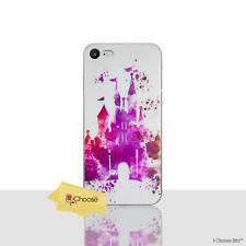 """Disney Case/Cover Apple iPhone 7 Plus (5.5"""") / Screen Protector / Pink Castle"""