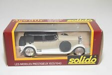 + SOLIDO AGE D'OR 62 HISPANO SUIZA 1926 CREAM WHITE MINT BOXED