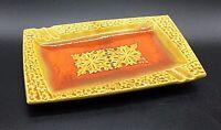 Vintage Mid-Century Modern Rectangular Ceramic Ash Tray, Japan