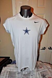 NIKE-PRO COMBAT Dri-Fit NFL Dallas Cowboys Star FITTED Shirt L-4X Short Sleeve