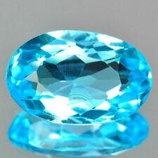 10.66cts Huge Oval Blue color Natural Topaz Loose Gemstones Free Shipping