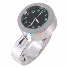 """Universal 7/8"""" -1"""" Impermeable De Motocicleta Manillar Reloj resplandor Reloj (1) S120"""