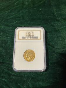 1912 GOLD UNITED STATES $5 DOLLAR INDIAN HEAD HALF EAGLE PHILADELPHIA AU 58