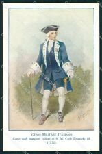 Militari Genio Italiano Ingegneri di Carlo Emanuele III Edel cartolina XF0314