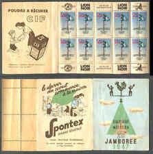 Moisson France: 1947 6th World Jamboree, Special Scout Labels Spontex Booklet