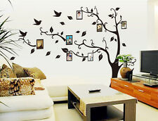 Left Facing 250*200cm Removable Wall Stickers Photo Frame Family Tree Decal