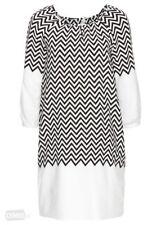 Rainbow @ Kaleidoscope Plus Size 20 Black White Tunic DRESS £38 Holiday Evening