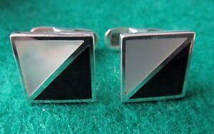 925 silver with MOP & black Onyx cufflinks