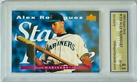 ALEX RODRIGUEZ ROOKIE 1995 UPPER DECK CARD #215 USA GRADED 8.5 SEATTLE MARINERS