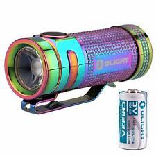 Olight S Mini TI Baton 550 Lumen Rainbow PVD Titanium LED Flashlight [S1, S1R]