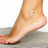 Fashion Stainless Steel Gold/Silver Star Anklet Ankle Foot Chain Bracelet Women