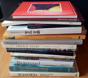 18 Bücher Kunst Paket Bildbände Picasso Schlör Uecker Clemente Bonnard Marc Menz