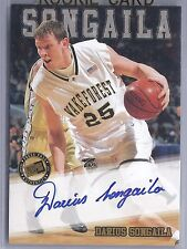 2002 Press Pass Basketball Darius Songaila Wake Forest College Autograph Card