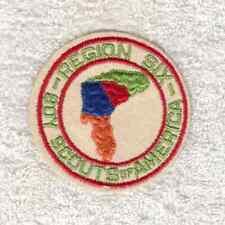 H9103 BSA OA Scouts -OLD REGION 6 - FIRST REGION 6 PATCH - FELT, CUT EDGE -MINT!