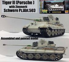 Easy model WWII German Tiger II Tank Porsche Schwere PzAbt 503 1/72 no diecast