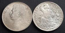 1949, Czechoslovakia (1st Rep., Post-War Coinage). Silver 100 Korun Coins. 2pcs!