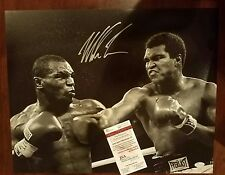 Mike Tyson Signed Auto 16x20 against Muhammad Ali JSA