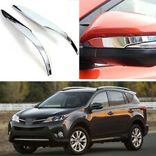 Chrome Rearview Side Mirror Cover Trim Strip Fit for Toyota Rav4 2013 2014 13 14