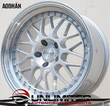 AODHAN AH02 19x9.5/11 5x114.3 ET12/15 Silver Wheels Rims Fit Nissan 350Z 370Z
