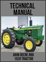 John Deere 1520 Tractor Technical Manual TM1012 On USB Drive