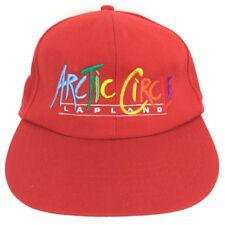 Vintage Arctic Circle Hat Lapland Cap Spell Out Logo Snapback Baseball Trucker