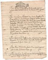 1693  KING LOUIS XIV Royal  Notary signed manuscript document ORIGINAL stamp