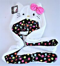 Hello Kitty Sanrio Snood Hat With Long Side Ties and Hands Pockets New With Tag