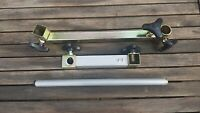 2 X FISHING ARMS 0NE EXTENDING SEATBOX ARM PLUS 180mm ARM WITH A BANK STICK