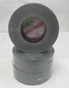 "1-24 Rolls 2"" x 60yd Silver Grey Duct Tape Case Gray Contractors HVAC Blem 2nd's"