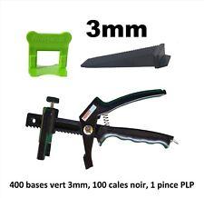 Kit 3 mm croisillon auto nivelant professionnel 400/100/pince PerfectLevel PLP.