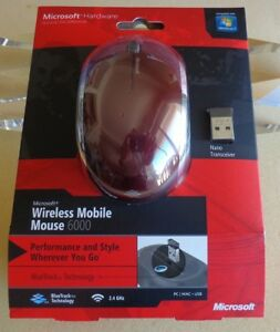 Brand New: Microsoft Wireless Mobile Mouse 6000( MHC-00019) in Retail Box