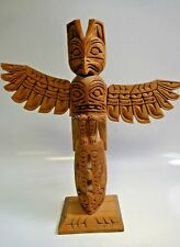 Vtg. Rick Williams (Nuu-chah-nulth) Hand Carved Thunder Bird Whale totem- Signed