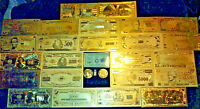COLLECTIBLE SET>COIN+GOLD BANKNOTE SET$1-$1M W/COA+MORE FREE S&H