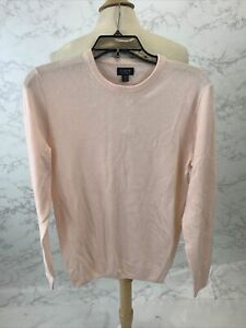 J Crew Men's Everyday cashmere crewneck sweater Pink J6384 size XS $118