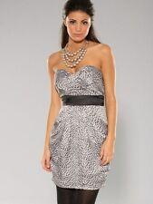 BNWT Rare Lipsy Jarlo Ramano Ladies Animal Print Bandeau Prom Dress UK 10 RRP£60