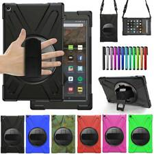 """For Amazon Fire HD 10 7th 8th 9th Gen 10.1"""" Rotate Stand Case Cover w Hand Strap"""