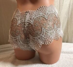 VICTORIA'S SECRET, Size Med, Shortie, Toupe w/Ivory Trim Panties (Reg $25)  NEW.