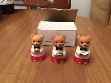 Vintage Set of 3 Homco Christmas Caroler Bears - #5100